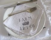 Farmhouse Napkins Set of 4 Well Butter my by SweetMagnoliasFarm