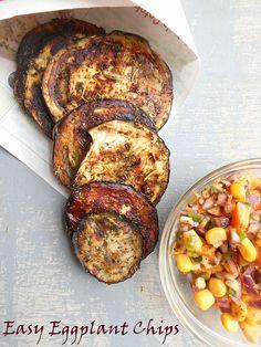 Easy eggplant chips   Healing Tomato