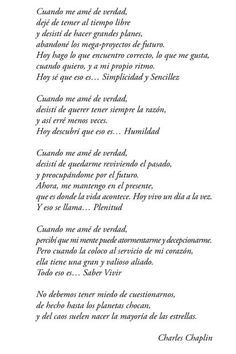 Poema Frases De Charles Chaplin Cuando Me Ame De Verdad Poema De Charles Chaplin Poemas Frases Motivadoras Frases