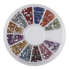 SODIALTM 15mm 1800 Nail Art Rhinestone Glitter Tip Mix Gems * Read more  at the image link. Note:It is Affiliate Link to Amazon.