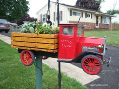 Flower delivery truck mailbox!
