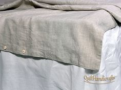 Duvet cover and two pillowcases. High quality European linen  Set Duvet cover and two pillowcases, 100% Flax This luxurious unique natural product natural linen. Duvet cover with button closure at the bottom. Durable inner closed French connecting the seams (the edges only). Our Bedding has been pre washed and softened so you can use them in your bedroom. Long life – linens can last more than 25 years.  Linen useful properties Linen has extraordinary properties: its ecologically pure, cool…