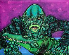 Creature from the Black Lagoon Gill Man Movie Monster #ART