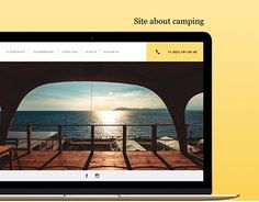 """Check out new work on my @Behance portfolio: """"UI Design for site about camping. Kabardinka"""" http://be.net/gallery/54155309/UI-Design-for-site-about-camping-Kabardinka"""