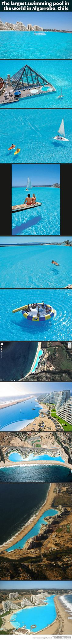 The largest swimming pool in the world<<< I WANT TO GO HERE SO BADLY!!!