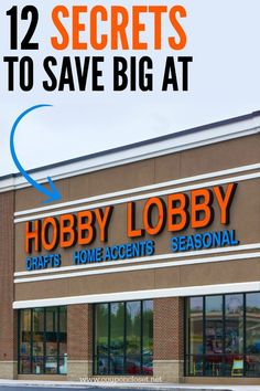 How to save money at Hobby Lobby - 12 Secrets to Save! So sparen Sie Geld in de. - How to save money at Hobby Lobby – 12 Secrets to Save! So sparen Sie Geld in der Hobby Lobby – - Hobby Lobby Sales, Hobby Lobby Crafts, Hobby Lobby Decor, Hobby Lobby Store, Ways To Save Money, Money Tips, Money Saving Tips, Money Savers, Saving Time