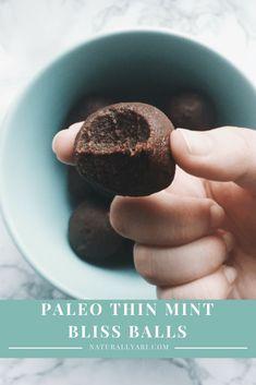 Paleo Thin Mint Bliss Balls – Naturally, Ari