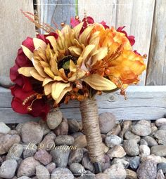 Fall Silk flower wedding bouquet. Silk bouquet. Bridal bouquet. YOUR COLORS. Sunflower. Hydragena.