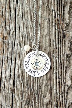 Romantic Gift Alert! Have the coordinates of where you first met, first kiss, where you were married stamped on this Sterling silver keepsake. // From @charmyoself
