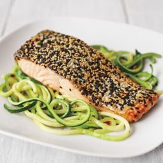 Recipes | Sesame Crusted Salmon with Zucchini | Sur La Table