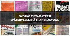 Piilotettuja transrasvoja on kaikkialla. Transrasvat ovat herättäneet paljon keskustelua viime aikoina. Niiden vaarallisuutta terveydelle eivät viranomaisetkaan enää kiellä. Silti niiden käyttöä elintarvikkeissa ei ole pakko ilmoittaa tuoteselosteessa.