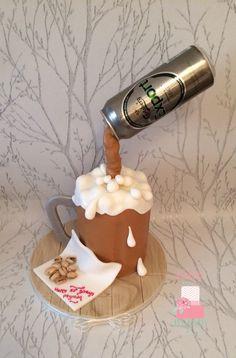 Anti gravity beer mug cake x