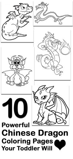 10 Powerful Chinese Dragon Coloring Pages Your Toddler Will Love