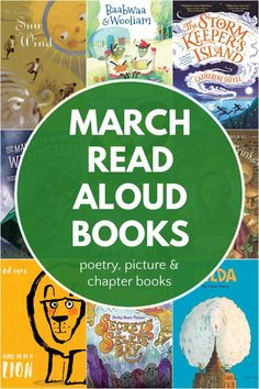Best children's books to read in March. Read alouds chosen for home, schools and libraries for March themes for weather, folklore, lions and sheep. Includes March poetry, picture books and… More Read Aloud Books, Children's Books, March Themes, National Poetry Month, Get Reading, Best Children Books, Poetry Books, Chapter Books, Children's Literature