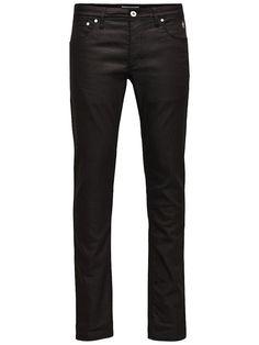 Jeans Intelligence - Jeans von JEANS INTELLIGENCE - Slim fit - 5-Taschen-Stil - Low rise - Schmal geschnittene Oberschenkel und Skinny-Fit-Passform am Knie - Enger Beinabschluss - Eingriff mit Knopfverschluss - Markenlogo-Patch an einer Vordertasche - Super Stretch - Das Modell trägt Größe 31/32 und ist 187 cm groß 35% Baumwolle, 35% Lyocell, 28% Polyester, 2% Elasthan...