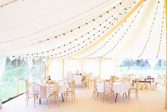 Loving the wedding feel to the Oyster Pearl tent!