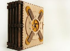 Readers must solve intricate puzzles to unlock the story in this gorgeous lasercut wooden book