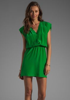 Parker Iris Dress in Palm. Such a lovely shade of green.