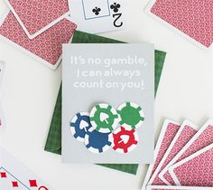 """I Can Count On You Card - Made with Cricut Explore One - Show your friends they count with this card! Finished card measures 4.25"""" W x 5.25"""" H #DIY Card Thank you Card"""