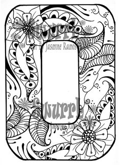 Instant Download Coloring Page Monogram Letter O by Swurrl on Etsy, $0.99