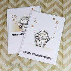 Weihnachtskarte mit Yetis (My Favorite Things)