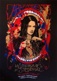 "MP991. ""The Stendhal Syndrome"" Alternative Movie Poster by Malleus (Dario Argento 1996) / #Movieposter"