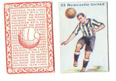 FOOTBALL PICTURE CARD 47 ISSUED BY  DC THOMPSON SHOWING NEWCASTLE CASTLE c1934 ie.picclick.com