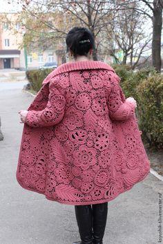 coat hook women in Irish style: 16 thousand images found in Yandeks. Col Crochet, Crochet Sheep, Crochet Coat, Crochet Jacket, Freeform Crochet, Crochet Cardigan, Irish Crochet, Crochet Skirts, Crochet Clothes