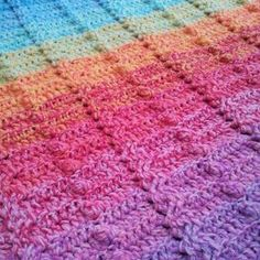 Cable and Bobble Stitch Blanket (Lienke's Lovey) - Look At What I Made
