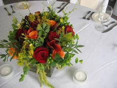https://flic.kr/p/4srGvo | a loverly fall centerpiece | PLEASE dont take my wedding pictures and use them for anything but enjoying...i work very hard on this stuff...