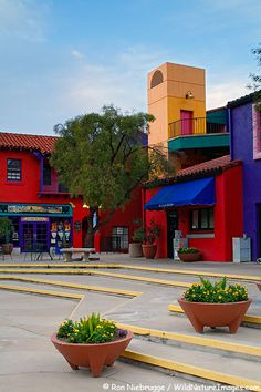 Start your day here with a stop at the Tucson Visitor Center www.visittucson.com with www.arizonasunshinetours.com  Colorful La Placita Village in downtown Tucson, ARIZONA.