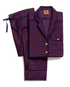 Tory Burch Cassandra silk PJ set: Louche menswear pajamas for staying in… or going out. #EditorsWishlist