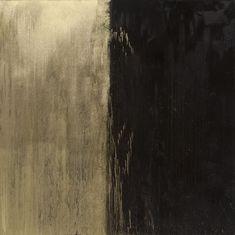 Black and Gold No. 2. Pat Steir (2009)