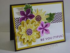 Stampin' Up! Flower Patch, Flower Fair framelits, photopolymer, Stampin' Studio: Be You {tiful}
