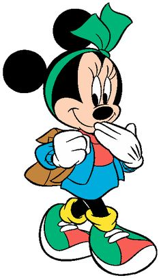 Disney Back to School Clip Art Mickey Mouse Imagenes, Mickey Mouse Cartoon, Disney Mouse, Mickey Mouse And Friends, Disney Mickey, Retro Disney, Art Disney, Disney Kunst, Disney Cartoon Characters