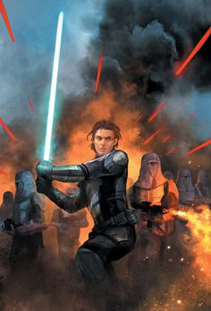 Cover art for 'Knights of the Old Republic: War #2' by Benjamin Carré