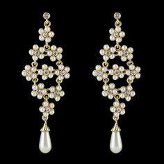 $4.76 Pair of Chic Women's Faux Pearl Flower Drop Design Earrings