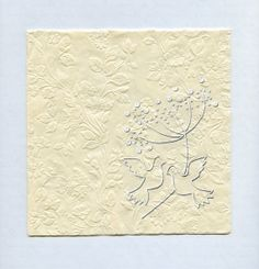 NAPKINS  Embossed Doves by OneDayLongAgo on Etsy, $6.25