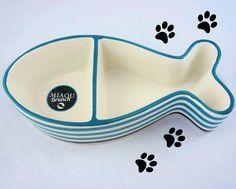 La gamelle en céramique parfaite pour les chats ! Existe également en forme d'os pour les chiens !