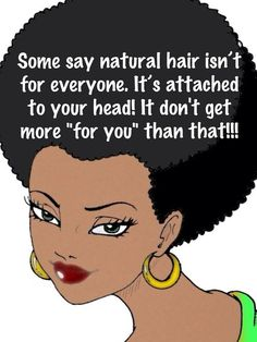 It's not, some people don't like doing their hair in general or are too lazy to…
