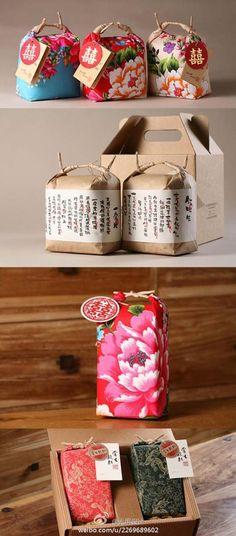 这是来自台湾某品牌大米包装的设计,第一眼看见这包装一定不会觉得是大米的外包装吧,农产品的包装做的如此精致。