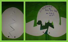 Dinosaurier-EInladung/ dinosaur invitation