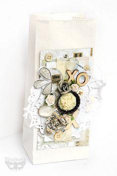 Prima ans Sizzix gift bag by finnabair, via Flickr