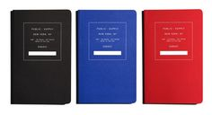 Public-Supply_Black_Red_Blue Notebooks