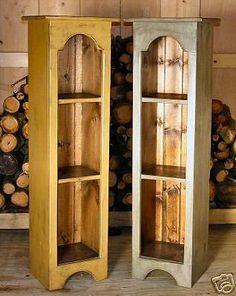 Primitive Handcrafted Grandma's Jelly Cupboard #primitivecountry