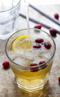 This 2-minute Cranberry Ginger Cider Cocktail would make a perfect easy Thanksgiving cocktail!