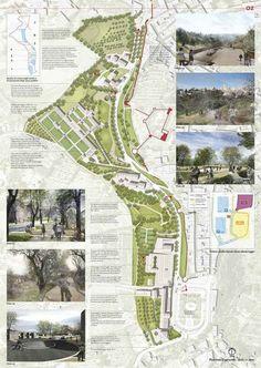 Since 1998 the Web Atlas of Contemporary Architecture Landscape Diagram, Landscape Plans, Urban Landscape, Landscape Architecture Design, Architecture Graphics, Urban Architecture, Urban Design Diagram, Urban Design Plan, Parque Linear