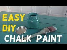How to Make Chalk Paint. There are two types of chalk paint: the washable kind that you can use on the sidewalk and the permanent kind that you can use on furniture. To make the washable kind of paint, you will need to use chalk or. Make Chalk Paint, Chalk Paint Mason Jars, Painted Mason Jars, Chalk Paint Furniture, Annie Sloan Chalk Paint, Furniture Refinishing, Red Paint, Refurbished Furniture, Repurposed Furniture