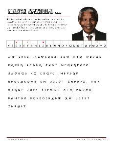 Free Nelson Mandela Vocabulary Worksheets, #Education #Homeschool #Mandela #Freebies  #SouthAfrica #Puzzles #Cryptogram