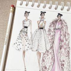 Couture sketchbook moment - Giambattista Valli Haute Couture Spring 2015